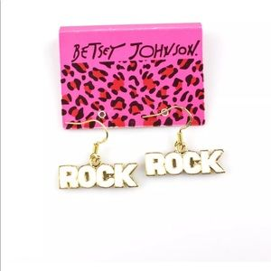Betsey Johnson Dangle Rock Earrings
